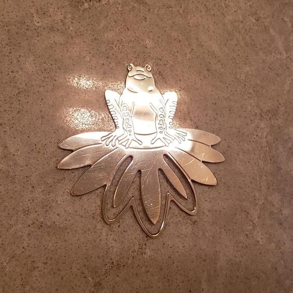 Tiffany & Co Frog Lily Pad Bookmark (Rare)